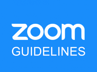Zoom Guidelines