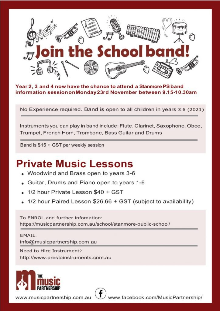 Stanmore Public School Band Try Out 2020