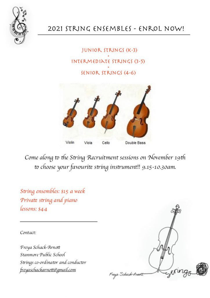 Stanmore Public School Strings Flyer 2020